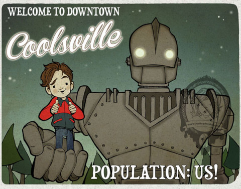 """Kelley Frisby Fan Art for the Iron Giant Show """"Downtown Coolsville"""""""