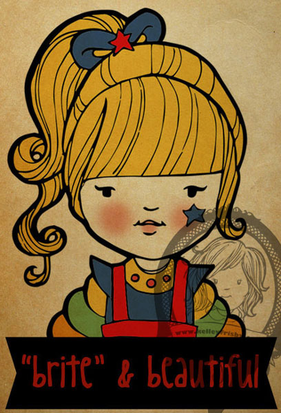 "Kelley Frisby illustration 80s fan art ""Rainbow Brite"""